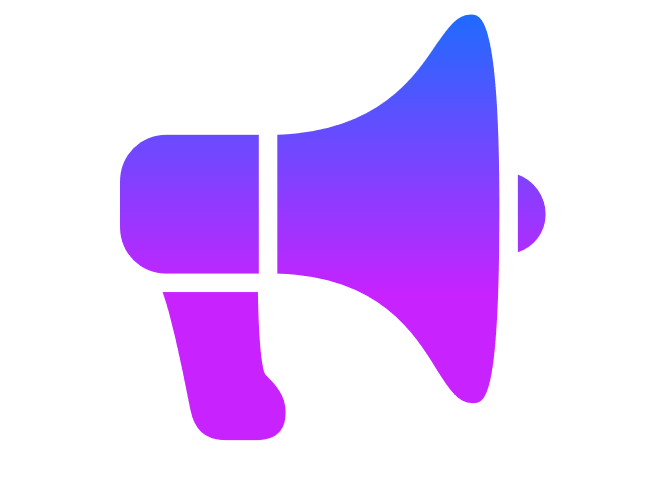 Illustrated megaphone